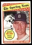 1969 Topps #433   -  Denny McLain All-Star Front Thumbnail