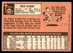 1969 Topps #408  Nate Colbert  Back Thumbnail