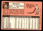 1969 Topps #403  Bob Miller  Back Thumbnail