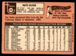 1969 Topps #354  Nate Oliver  Back Thumbnail