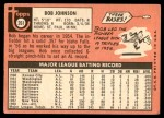 1969 Topps #261  Bob Johnson  Back Thumbnail