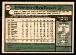 1979 O-Pee-Chee #141  Ken Kravec  Back Thumbnail