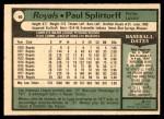 1979 O-Pee-Chee #90  Paul Splittorff  Back Thumbnail