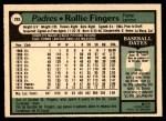 1979 O-Pee-Chee #203  Rollie Fingers  Back Thumbnail