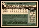1979 O-Pee-Chee #8  Paul Molitor  Back Thumbnail