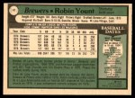 1979 O-Pee-Chee #41  Robin Yount  Back Thumbnail
