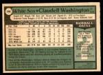 1979 O-Pee-Chee #298  Claudell Washington  Back Thumbnail