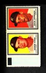 1962 Topps Stamp Panels #46  Norm Cash / Dick Howser  Front Thumbnail