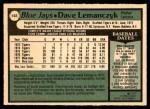 1979 O-Pee-Chee #102  Dave Lemanczyk  Back Thumbnail