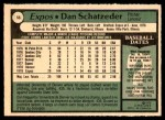 1979 O-Pee-Chee #56  Dan Schatzeder  Back Thumbnail
