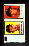 1962 Topps Stamp Panels #136  Bill Monbouquette / Don Hoak  Front Thumbnail