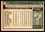 1979 O-Pee-Chee #281 TR Enrique Romo   Back Thumbnail