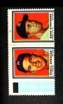 1962 Topps Stamp Panels #197  Daryl Spencer / Gene Stephens  Front Thumbnail