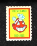 1962 Topps Stamps #31   Cleveland Emblem Front Thumbnail
