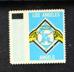1962 Topps Stamps #62   Los Angeles Emblem Front Thumbnail