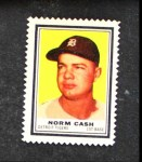 1962 Topps Stamps #45  Norm Cash  Front Thumbnail
