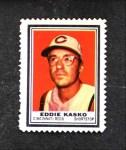 1962 Topps Stamps #117  Eddie Kasko  Front Thumbnail