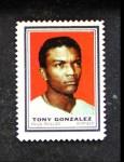 1962 Topps Stamps #168  Tony Gonzalez  Front Thumbnail