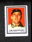 1962 Topps Stamps #196  Jim Davenport  Front Thumbnail