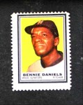 1962 Topps Stamps #95  Bennie Daniels  Front Thumbnail