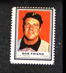 1962 Topps Stamps #176  Bob Friend  Front Thumbnail