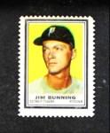 1962 Topps Stamps #44  Jim Bunning  Front Thumbnail