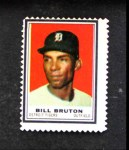 1962 Topps Stamps #43  Bill Bruton  Front Thumbnail