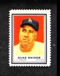 1962 Topps Stamps #140  Duke Snider  Front Thumbnail