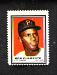 1962 Topps Stamps #174  Roberto Clemente  Front Thumbnail