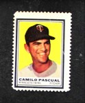 1962 Topps Stamps #78  Camilo Pascual  Front Thumbnail