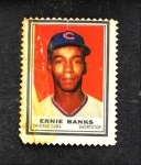 1962 Topps Stamps #104  Ernie Banks  Front Thumbnail