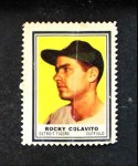 1962 Topps Stamps #46  Rocky Colavito  Front Thumbnail