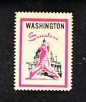 1962 Topps Stamps #92   Washington Emblem Front Thumbnail