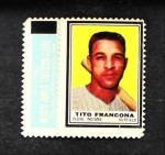 1962 Topps Stamps #34  Tito Francona  Front Thumbnail