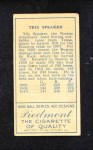 1911 T205  Tris Speaker  Back Thumbnail