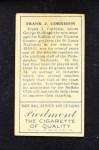 1911 T205  Frank J. Corridon  Back Thumbnail
