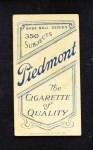 1909 T206 BAT Danny Murphy  Back Thumbnail