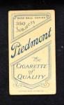 1909 T206 TRE Chief Bender  Back Thumbnail