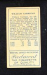 1911 T205  Bill Carrigan  Back Thumbnail