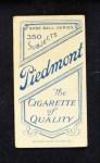 1909 T206 BRK Harry McIntire  Back Thumbnail