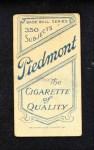 1909 T206  Sam Strang  Back Thumbnail