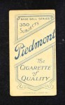 1909 T206  Larry Schlafly  Back Thumbnail