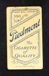 1909 T206  John Butler  Back Thumbnail