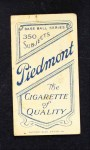 1909 T206 YEL Frank Chance  Back Thumbnail