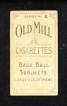 1910 T210-2 Old Mill  Jackson  Back Thumbnail