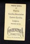 1910 T209-2 Contentnea  Bussey  Back Thumbnail
