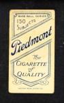 1909 T206 xGLV Jake Stahl  Back Thumbnail