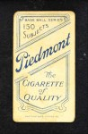 1909 T206 HRZ Barney Pelty  Back Thumbnail