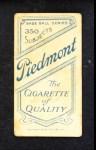 1909 T206  Fred Burchell  Back Thumbnail