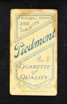 1909 T206 STL Bill Graham  Back Thumbnail